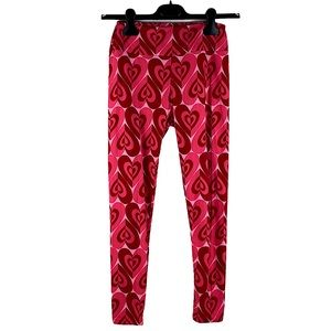 HOLIDAY heart love leggings soft ONE SIZE